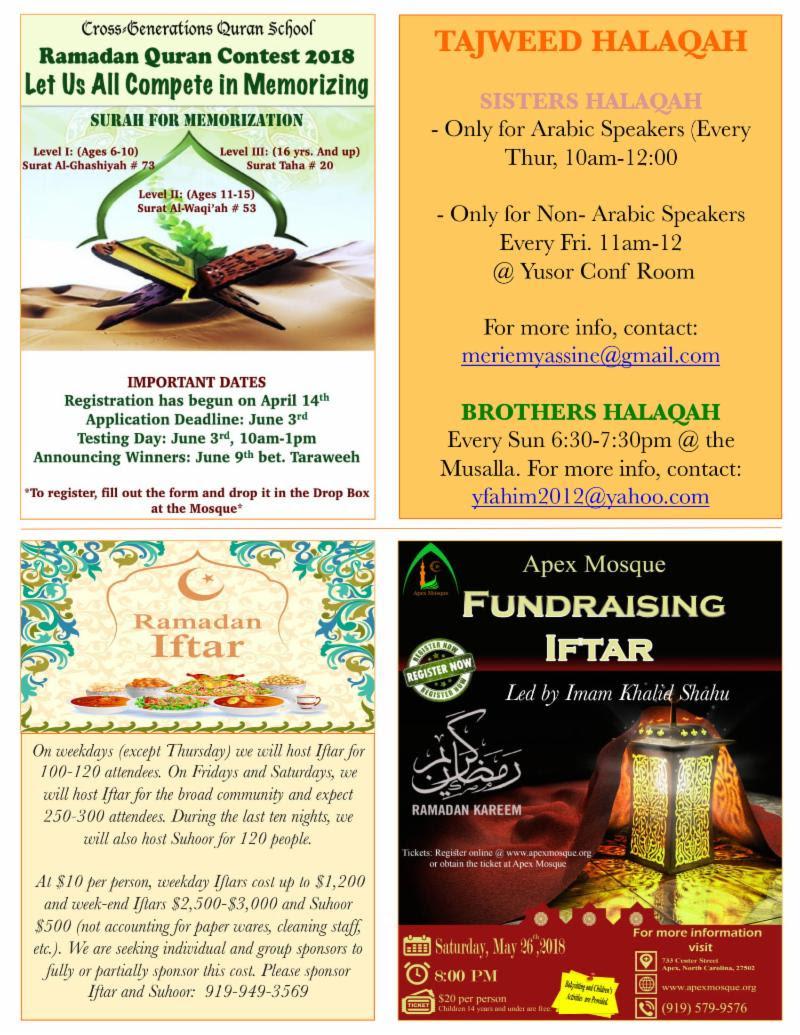 Apex Mosque | Ramadan Newsletter