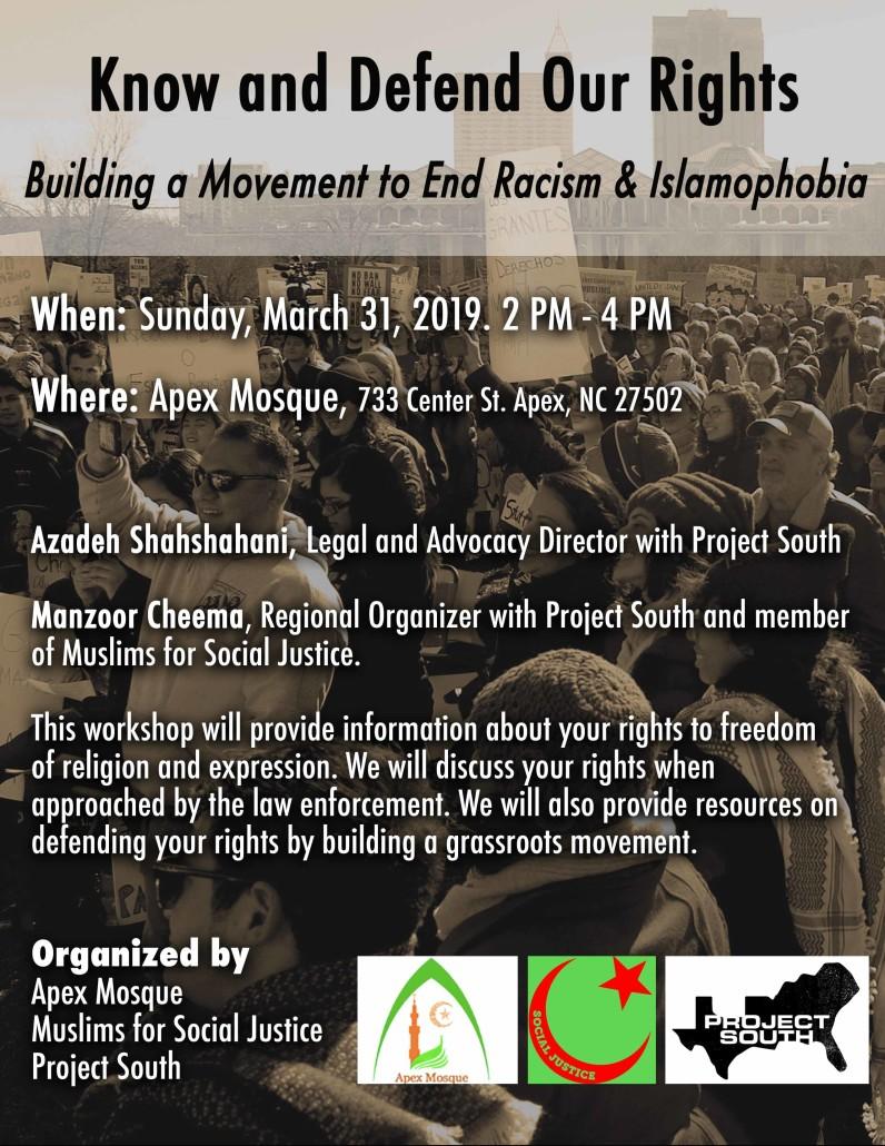 KYR at Apex Mosque 3-31-19