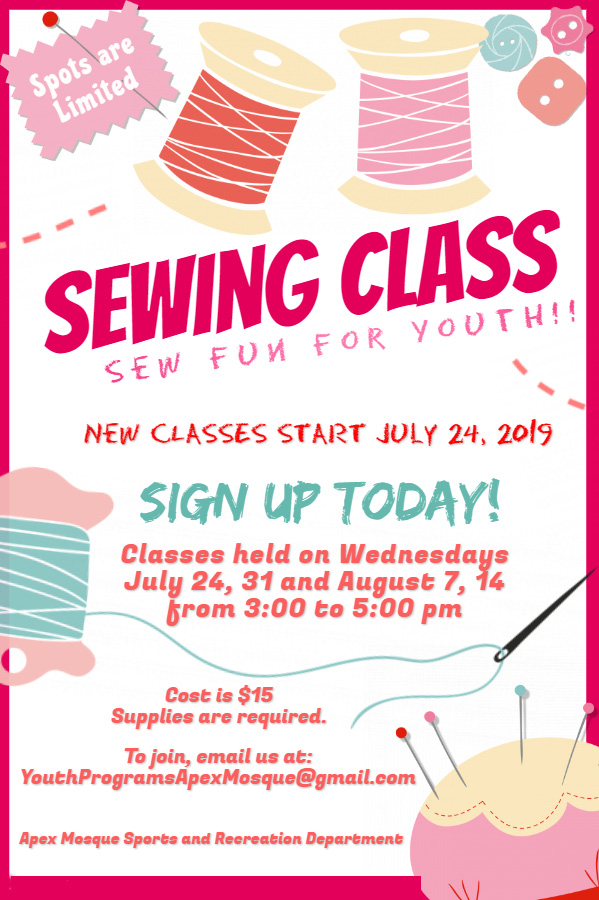 Sewing Class poster